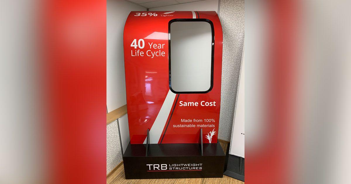 Biocomposite Rail Carriage Door